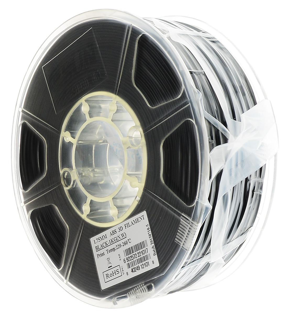 ESUN пластик ABS в катушке, Black, 1,75 мм