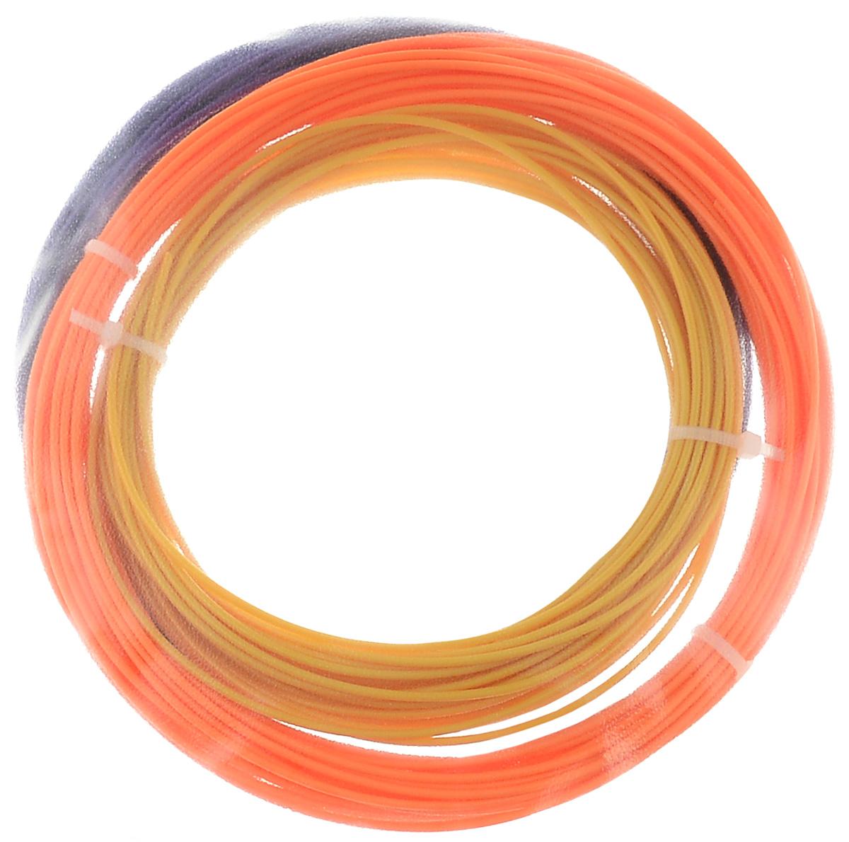 ESUN 3D Filament, Orange Gold Purple комплект ABS-пластика, 10 м creopop ink 3d printer pen plastic pla filament set petg rods moscow cheap russia delivery temperature purple pink orange