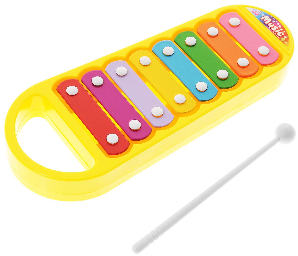 ABtoys Музыкальная игрушка Ксилофон цвет желтый