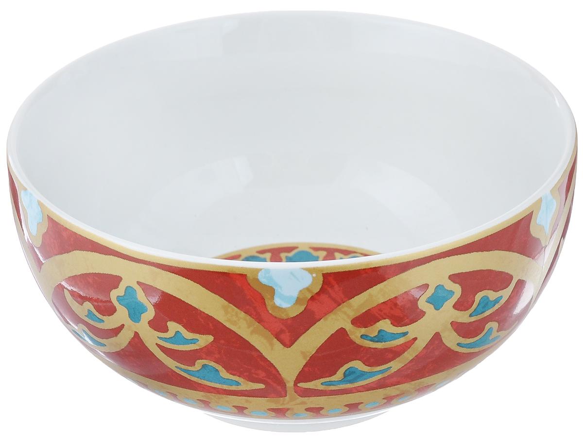 Салатница Utana Голден Палас, цвет: белый, коричневый, синий, диаметр 14 см футболка палас алиэкспресс