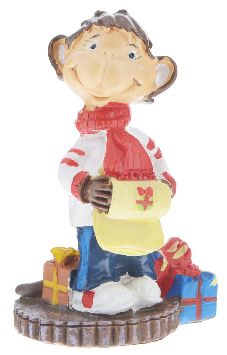 Фигурка декоративная Обезьянка с подарками, высота 8 см фигурка декоративная обезьянка с тортом высота 7 6 см