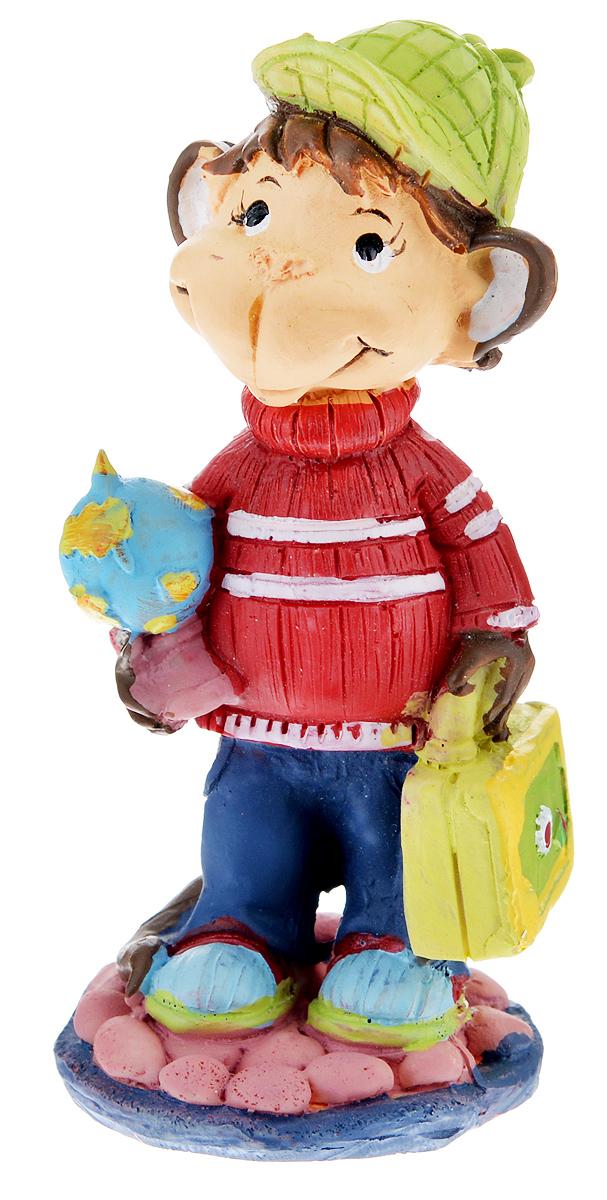 Фигурка декоративная Обезьянка-путешественник, высота 8 см фигурка декоративная обезьянка с тортом высота 7 6 см