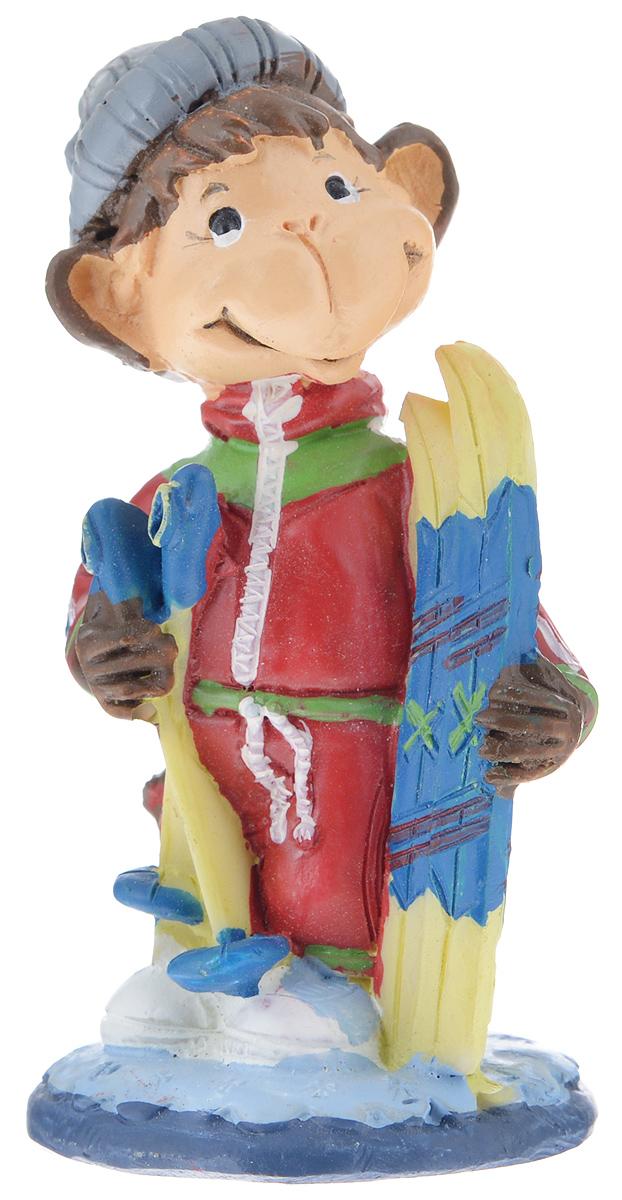 Фигурка декоративная Обезьянка-лыжник, высота 8,2 см резиновый утенок лыжник l
