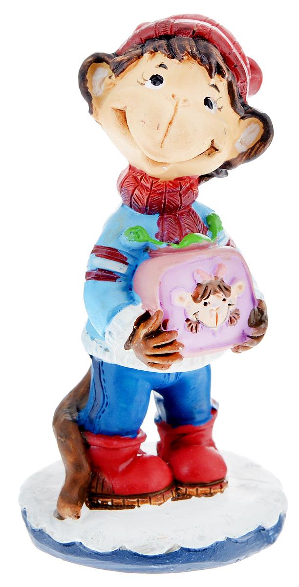 Фигурка декоративная Обезьянка с телевизором, высота 8 см фигурка декоративная обезьянка с тортом высота 7 6 см