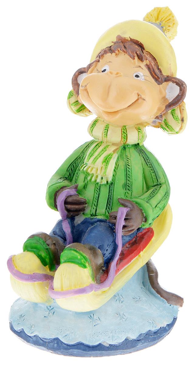 Фигурка декоративная Обезьянка в санях, высота 8 см фигурка декоративная обезьянка с тортом высота 7 6 см