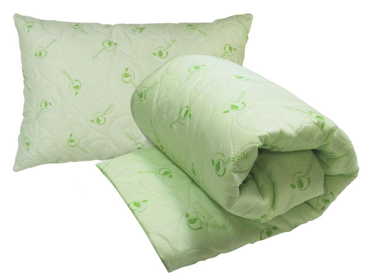 """Комплект Подушкино """"Натурель"""": одеяло 140 х 205 см, подушка 50 х 72 см"""