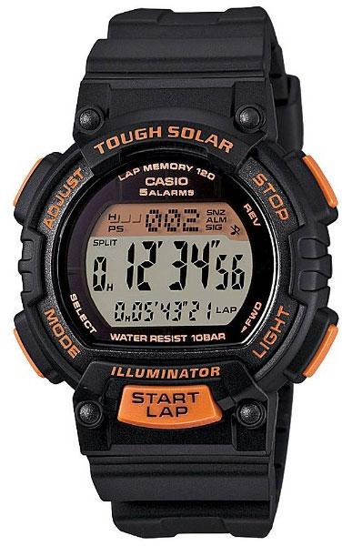 Часы наручные Casio, цвет: черный, оранжевый. STL-S300H-1B все цены