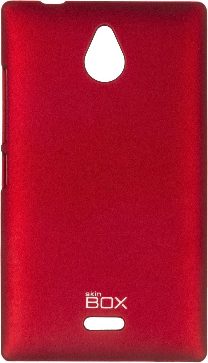 Skinbox 4People чехол для Nokia X2, Red чехол для nokia x2 силиконовый tpu черный конфеты