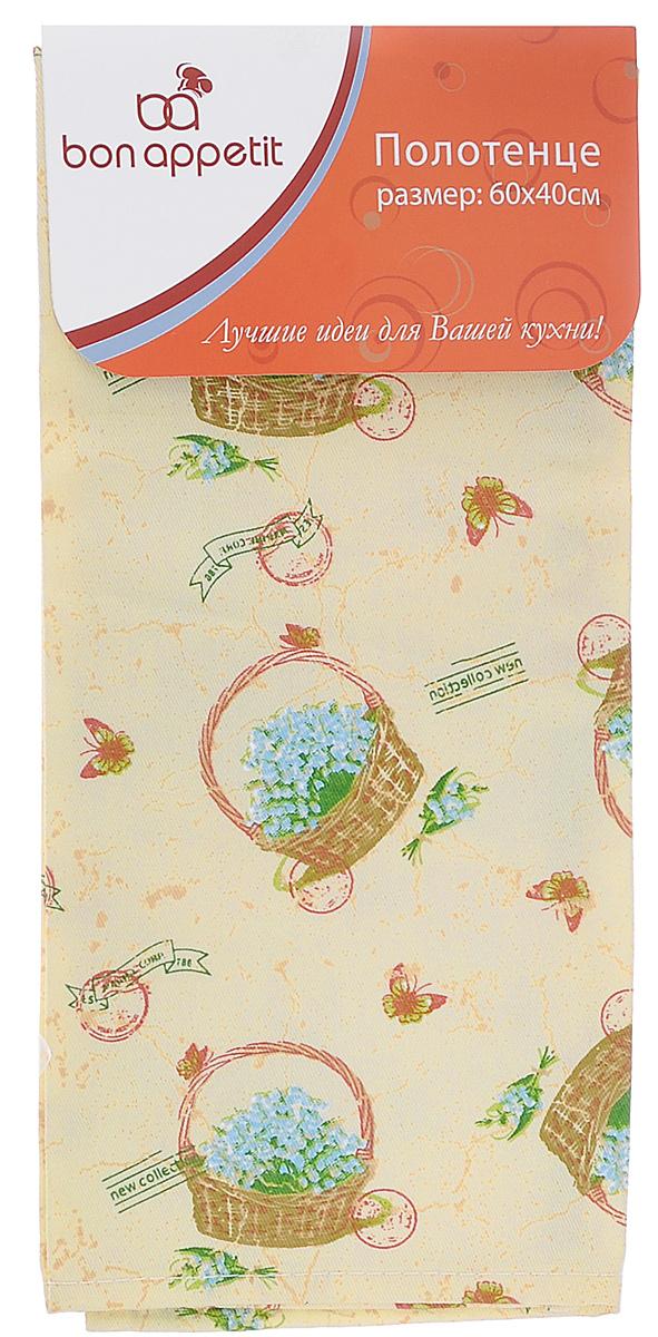 Полотенце кухонное Bon Appetit Ландыши, 60 х 40 см полотенце для кухни bon appetit набор из 2 полотенец для кухни berrys