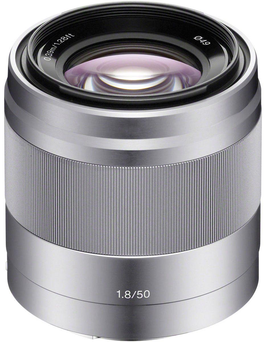 Объектив Sony 50mm F/1.8, Silver для Nex