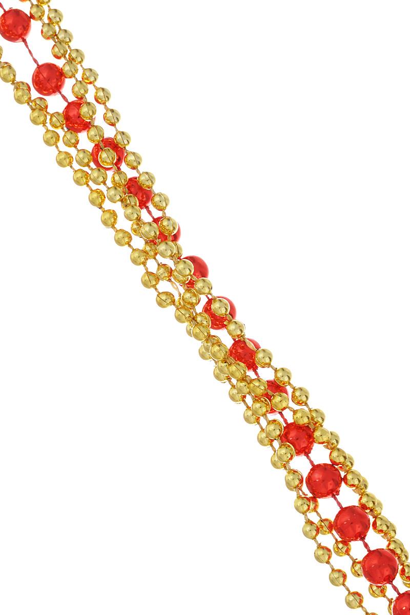 """Новогодняя гирлянда Феникс-презент """"Magic Time"""", цвет: красный, золотистый, длина 1,8 м. 34472"""