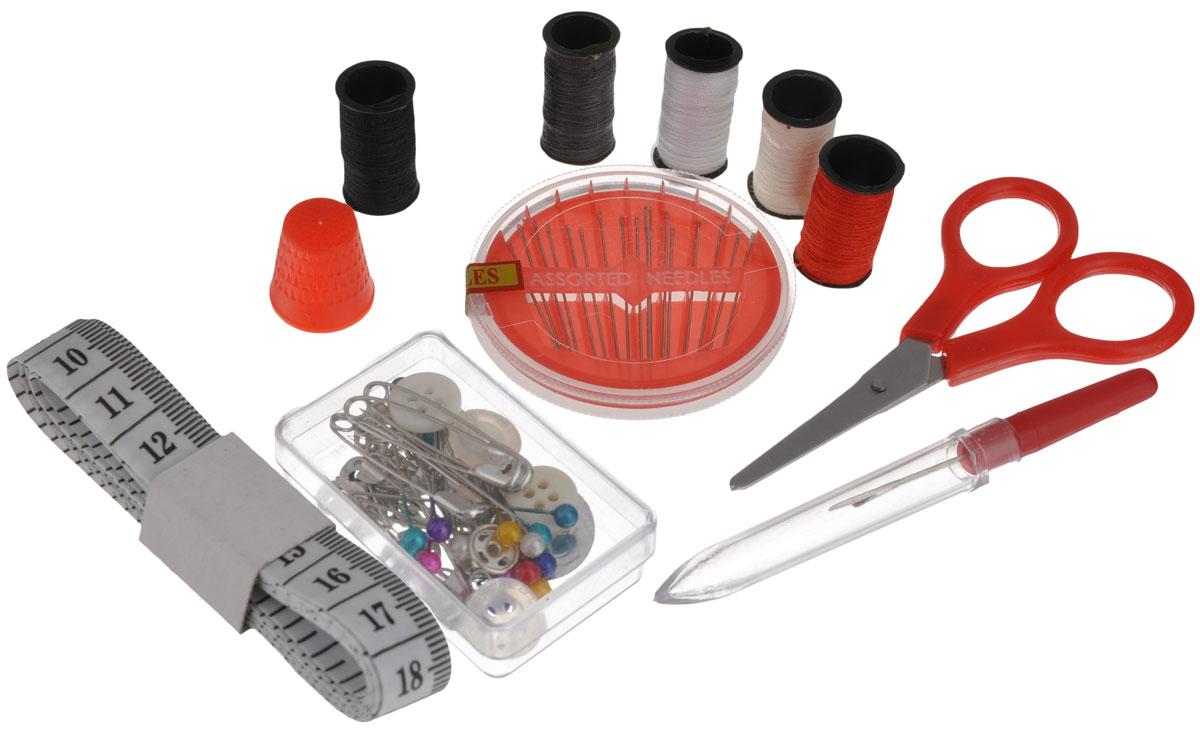 Набор дорожный для шитья Hobby & Pro, цвет: красный. 676706 для шитья сантиметр