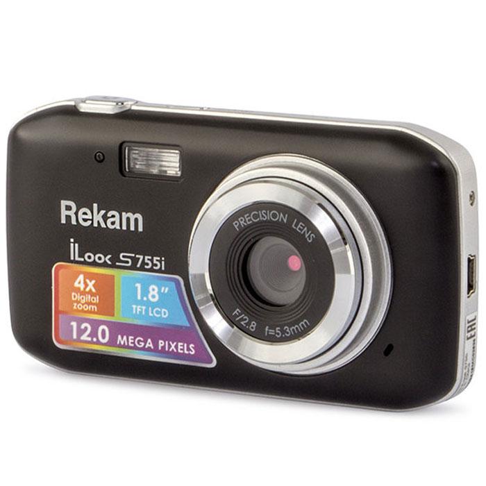 Компактный фотоаппарат Rekam iLook S755i, Black цена