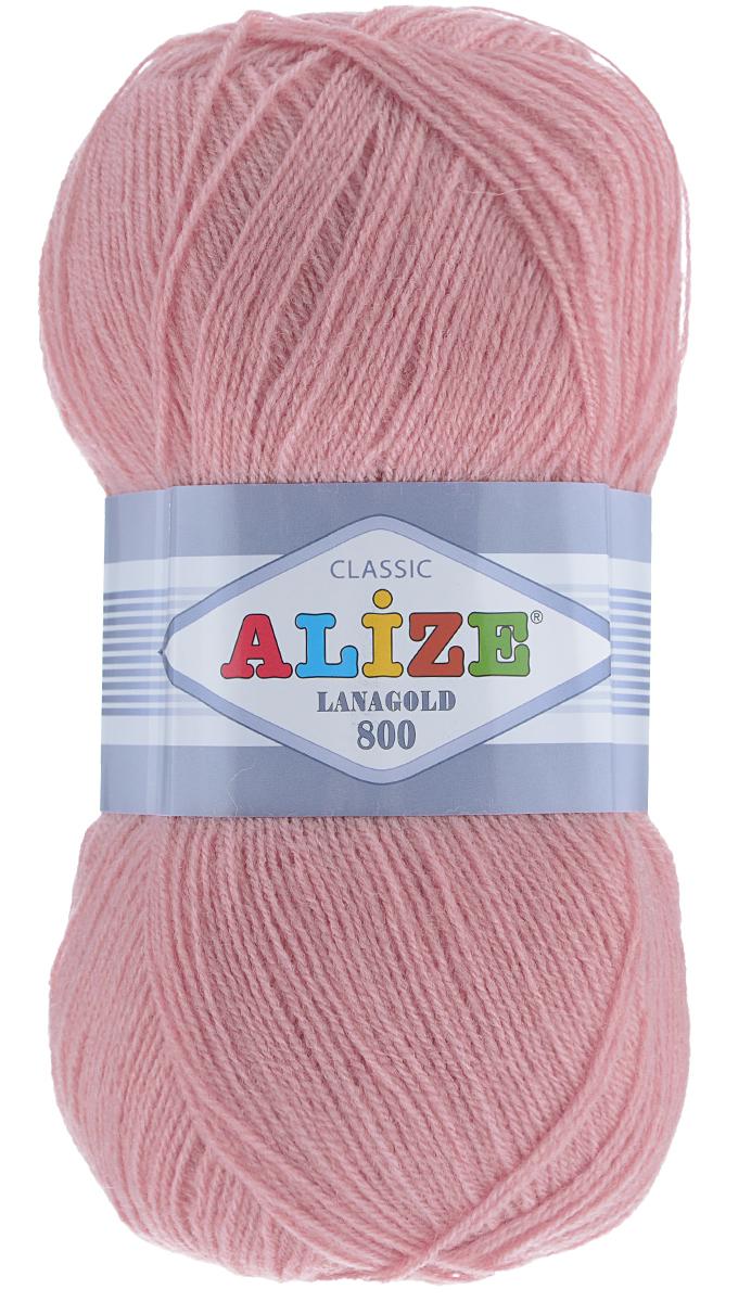 """Пряжа для вязания Alize """"Lanagold 800"""", цвет: темно-розовый (98), 800 м, 100 г, 5 шт"""