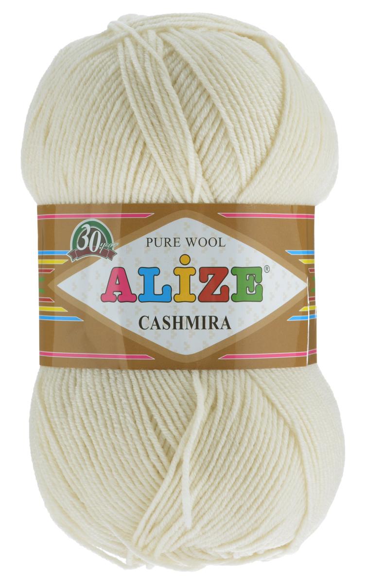 Пряжа для вязания Alize Cashmira, цвет: кремовый (01), 300 м, 100 г, 5 шт цена