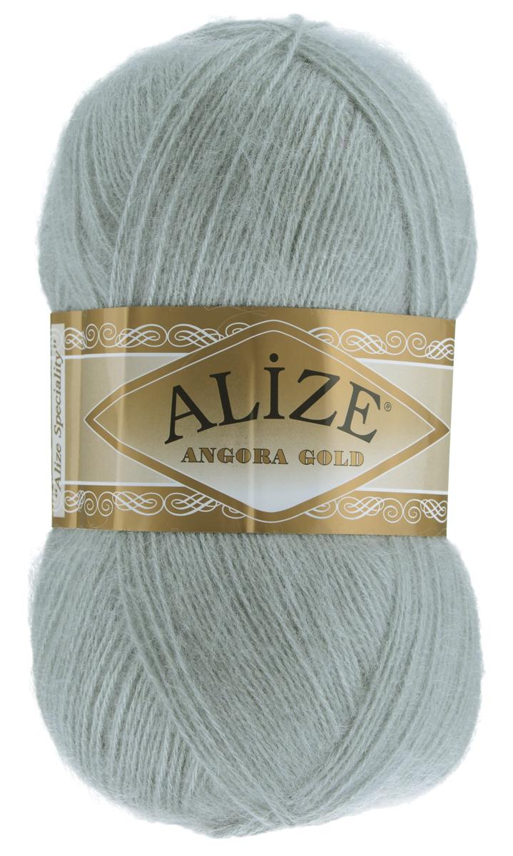 "Пряжа для вязания Alize ""Angora Gold"", цвет: светло-серый (21), 550 м, 100 г, 5 шт"