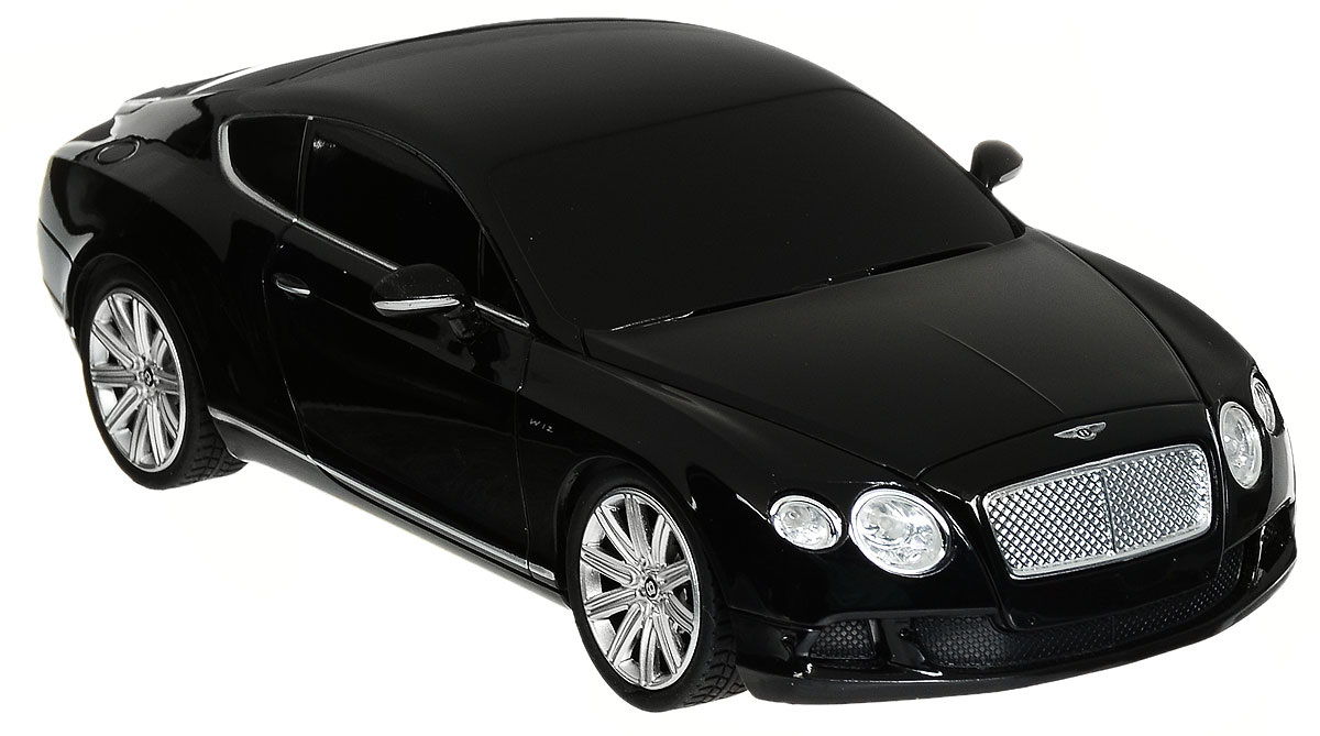 Rastar Радиоуправляемая модель Bentley Continental GT Speed цвет черный масштаб 1:24 rastar радиоуправляемая модель bentley continental gt3