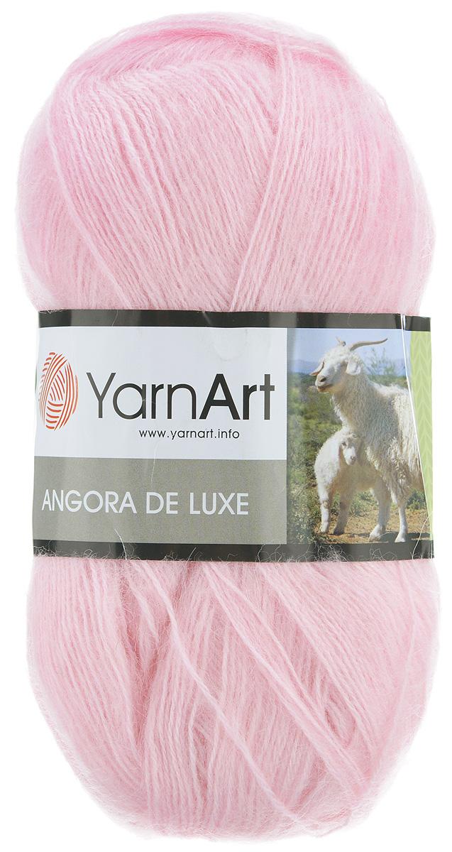 пряжа для вязания Yarnart Angora De Luxe цвет бледно розовый