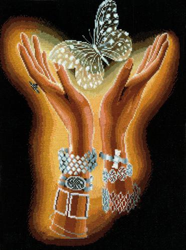 Набор для вышивания крестом Хрустальная бабочка, 31 см х 40 см шитье diy dmc вышивка крестом наборы для вышивания комплекты бабочка прямых производителей