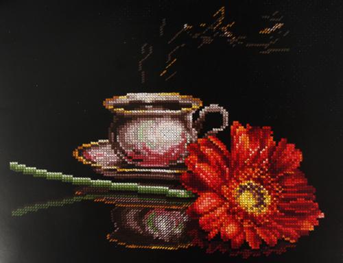 Набор для вышивания крестом Кофе для нее, 27 х 22 см наборы для вышивания сделай своими руками набор для творчества четвероногие друзья
