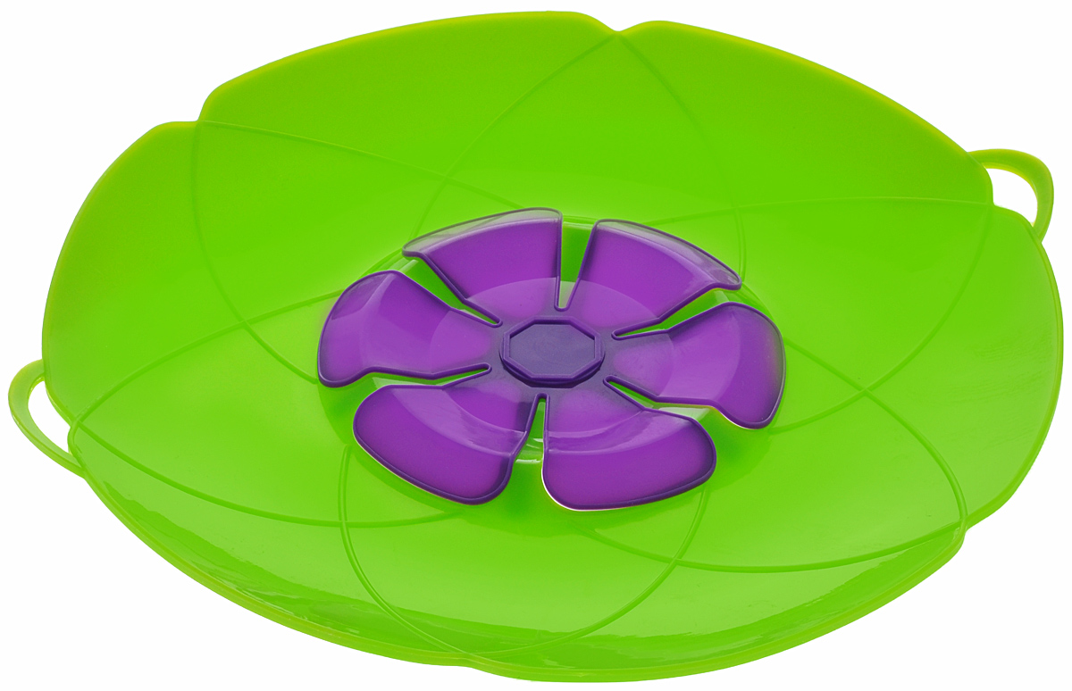Крышка-невыкипайка Mayer & Boch, цвет: зеленый. Диаметр 28 см крышка невыкипайка mayer