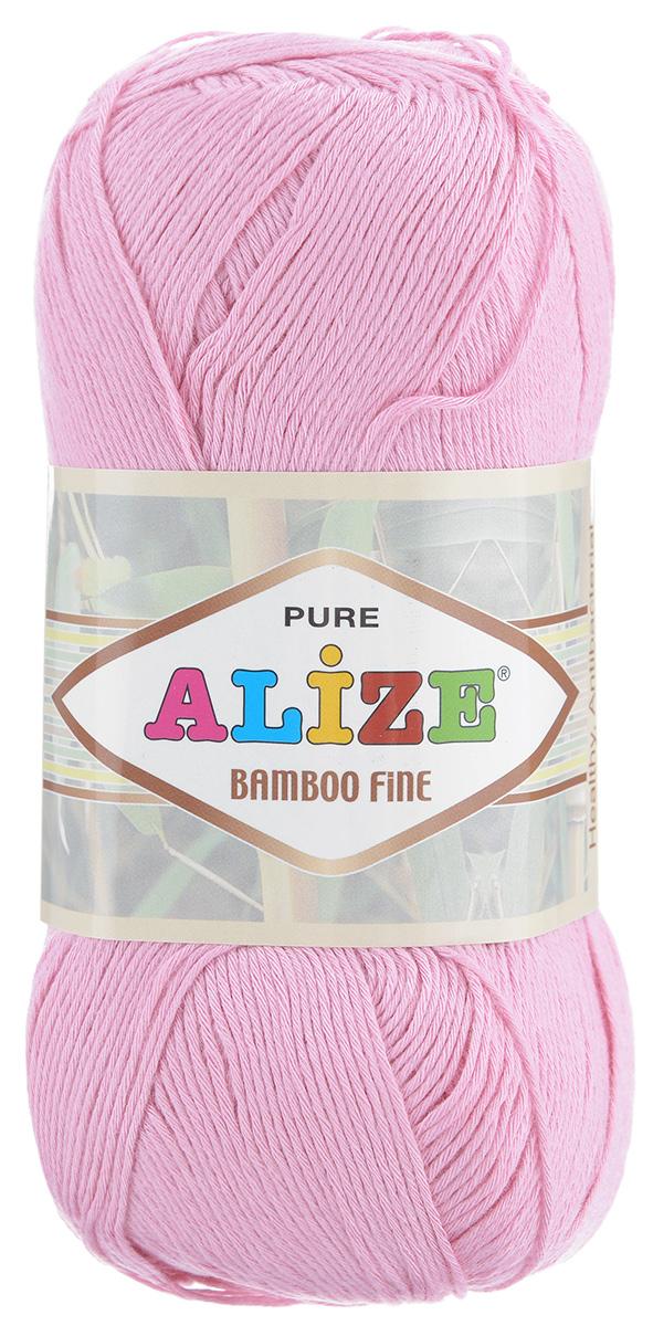 Пряжа для вязания Alize Bamboo Fine, цвет: розовый (194), 440 м, 100 г, 5 шт пряжа для вязания alize bamboo fine цвет зеленый синий фиолетовый 3260 440 м 100 г 5 шт