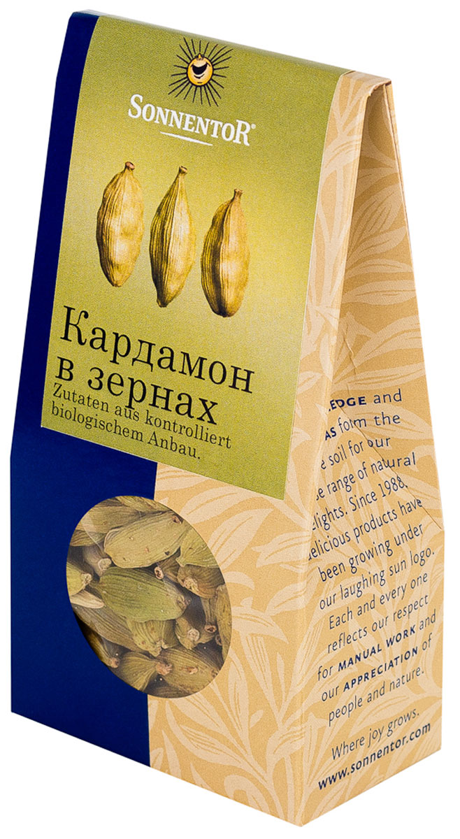 Sonnentor: Кардамон в зернах, 30 г кардамон целый магия востока 7г