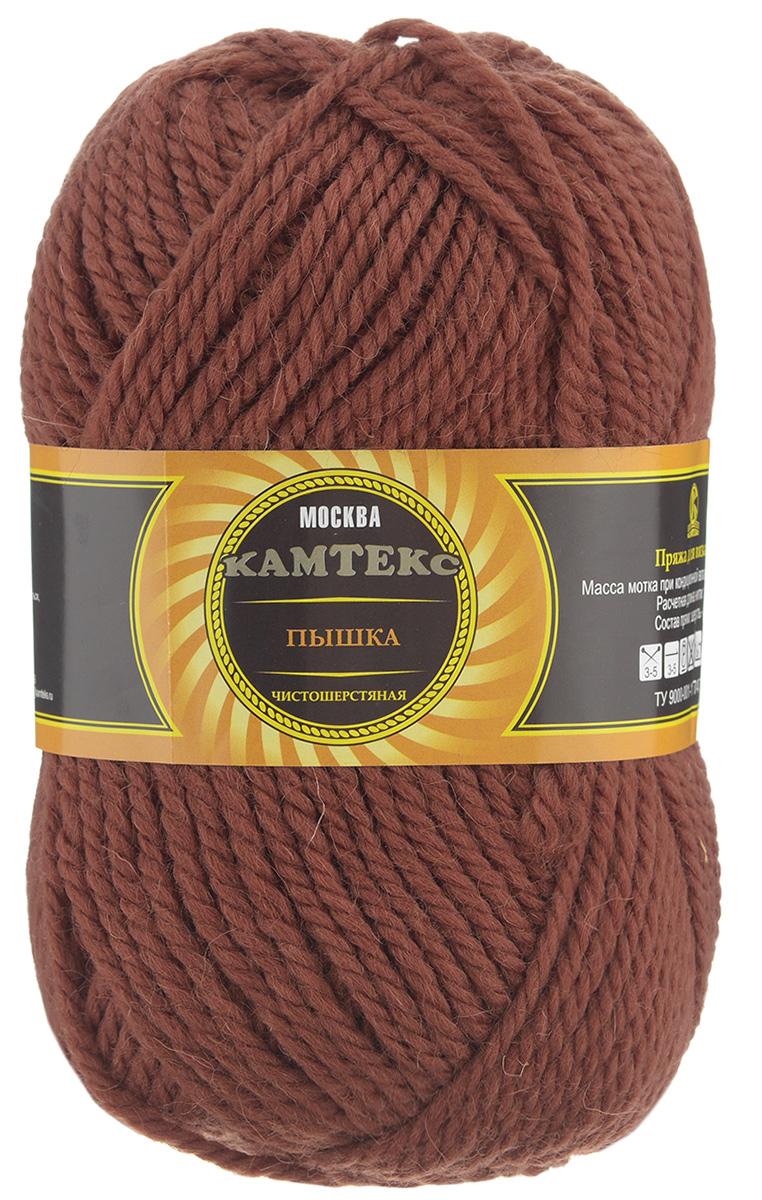 Пряжа для вязания Камтекс Пышка, цвет: терракот (051), 110 м, 100 г, 10 шт пряжа для вязания камтекс семицветик цвет розовый 056 180 м 100 г 10 шт