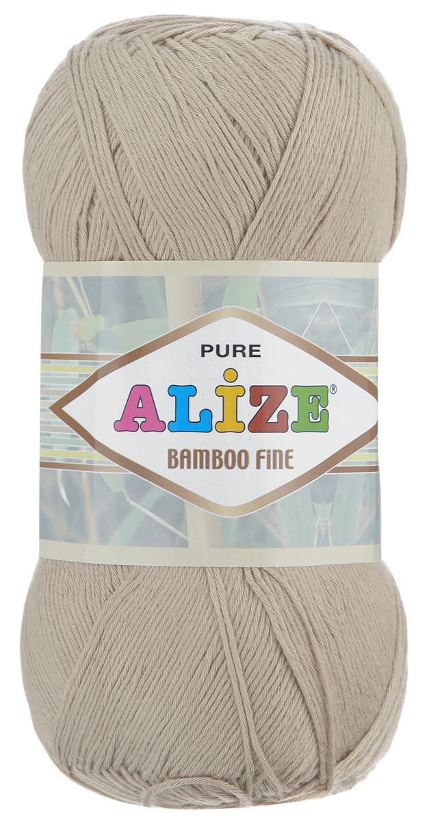 Пряжа для вязания Alize Bamboo Fine, цвет: бежевый (76), 440 м, 100 г, 5 шт пряжа для вязания alize bamboo fine цвет зеленый синий фиолетовый 3260 440 м 100 г 5 шт