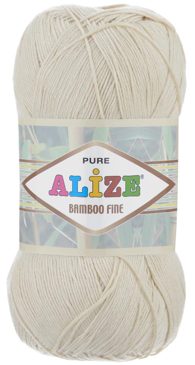 Пряжа для вязания Alize Bamboo Fine, цвет: молочный (01), 440 м, 100 г, 5 шт пряжа для вязания alize bamboo fine цвет зеленый синий фиолетовый 3260 440 м 100 г 5 шт