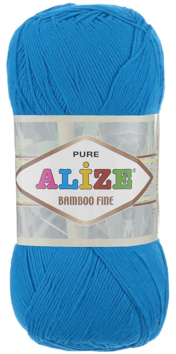 Пряжа для вязания Alize Bamboo Fine, цвет: ярко-голубой (484), 440 м, 100 г, 5 шт пряжа для вязания alize bamboo fine цвет зеленый синий фиолетовый 3260 440 м 100 г 5 шт