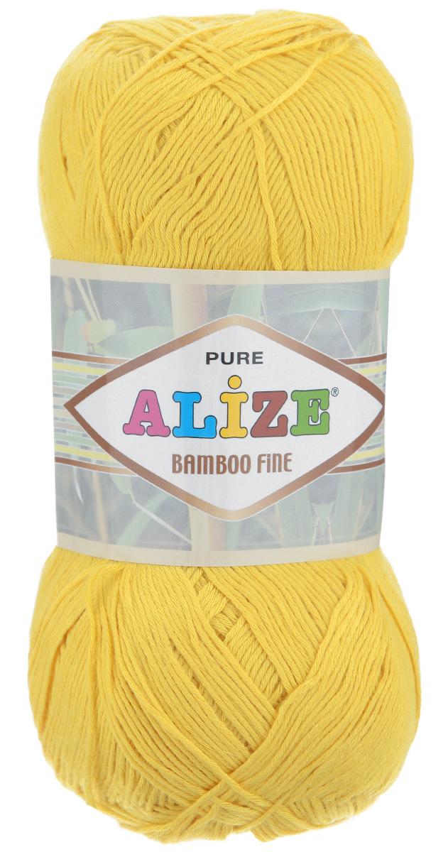 Пряжа для вязания Alize Bamboo Fine, цвет: желтый (216), 440 м, 100 г, 5 шт пряжа для вязания alize bamboo fine цвет зеленый синий фиолетовый 3260 440 м 100 г 5 шт