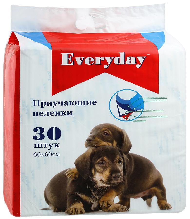 Пеленки для животных Everyday, впитывающие, гелевые, 60 х 60 см, 30 шт everyday everyday эвридей впитывающие пеленки для животных гелевые 60 х 60 см 30 шт