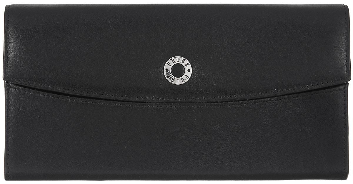 Портмоне женское Petek 1855, цвет: черный. 471.000.01 увлажнитель воздуха polaris puh 5806di белый чёрный