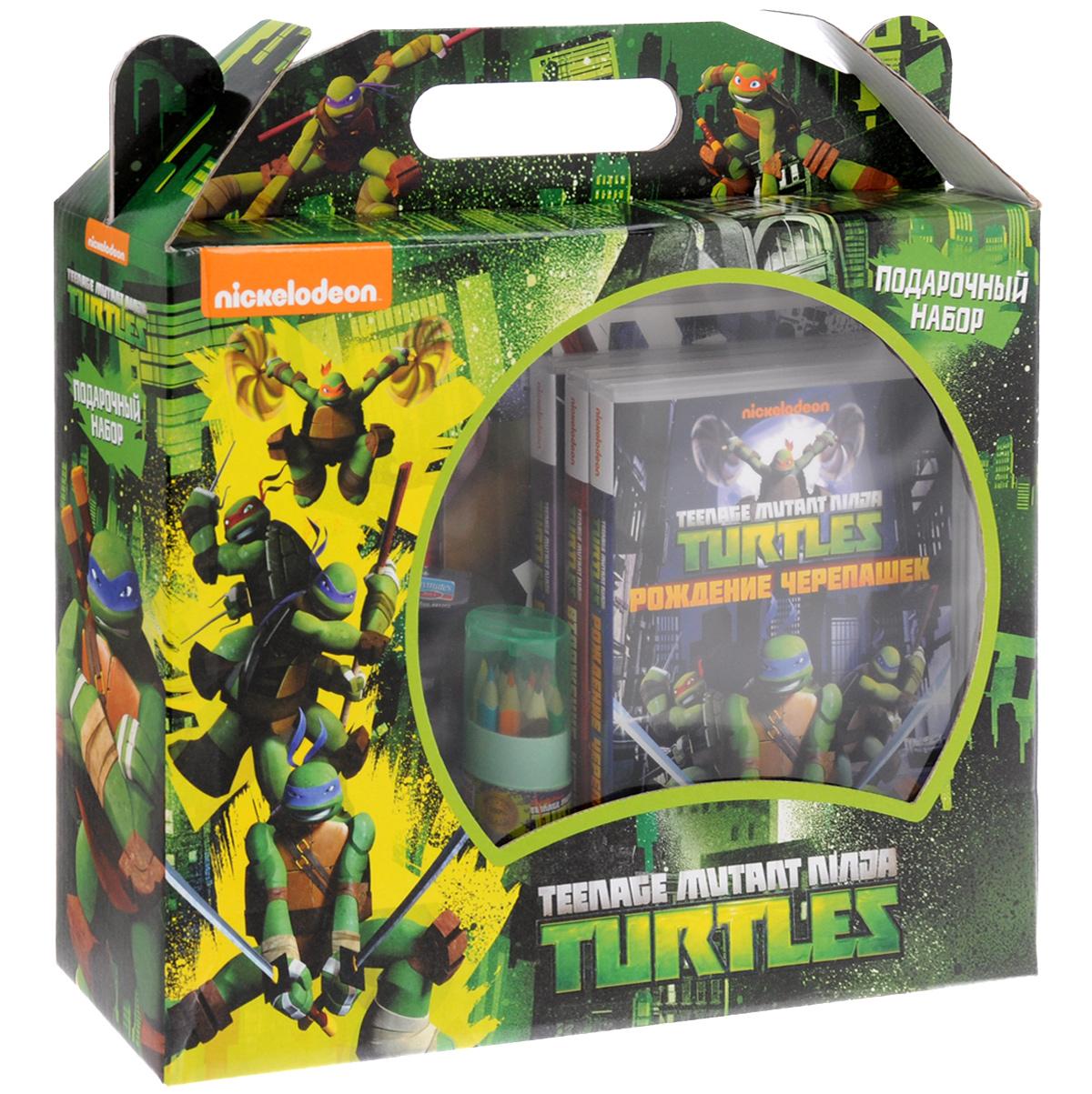 Teenage Mutant Ninja Turtles: Подарочный набор (3 DVD + сувениры) 2015 comics teenage mutant ninja turtles wallet dollar price purse pu tide men women boys girls wallets for young students w020