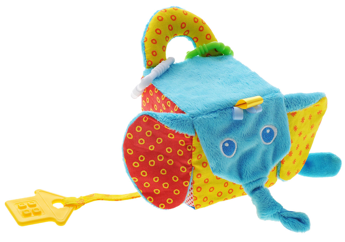 Мякиши Мягкая развивающая игрушка Кубик слон цена