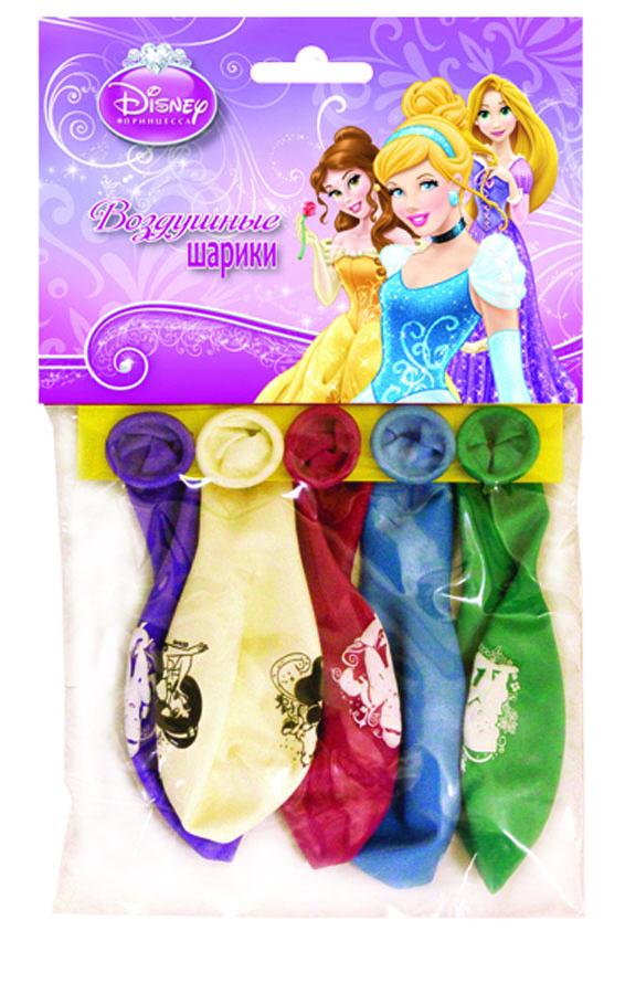 Веселая затея Набор воздушных шаров Принцессы 5 шт веселая затея набор воздушных шариков с днем рождения союзмультфильм 5 шт