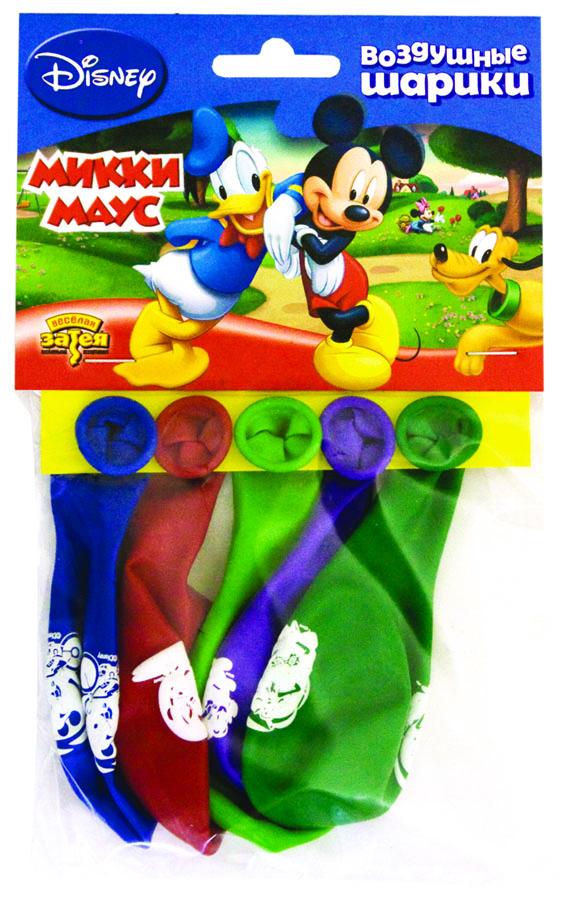 Веселая затея Набор воздушных шаров Микки Маус 5 шт веселая затея набор воздушных шариков с днем рождения союзмультфильм 5 шт