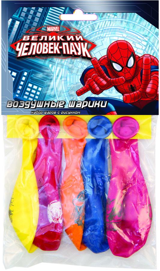 Веселая затея Набор воздушных шаров Великий Человек-паук 5 шт веселая затея набор воздушных шариков с днем рождения союзмультфильм 5 шт