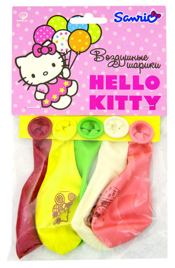 Веселая затея Набор воздушных шаров Hello Kitty 5 шт веселая затея набор воздушных шариков с днем рождения союзмультфильм 5 шт