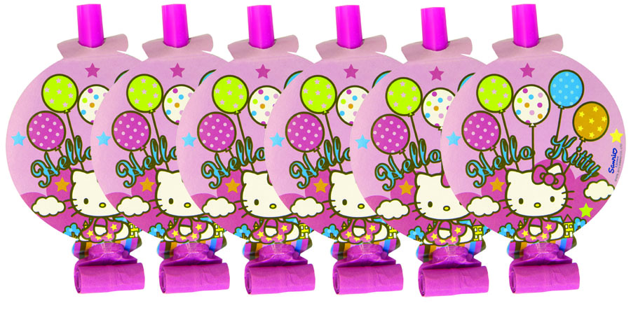 Веселая затея Язык-гудок с карточкой Hello Kitty 8 шт цены