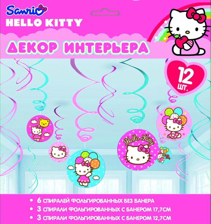 Веселая затея Спираль Hello Kitty 12 шт
