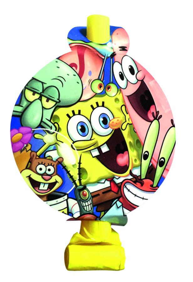 Веселая затея Язык-гудок с карточкой Губка Боб 8 шт цены