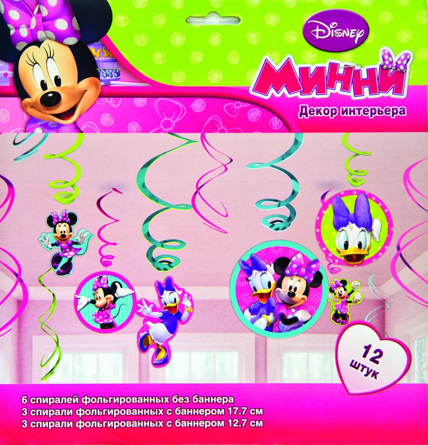 Amscan Спираль Disney Минни Маус 12 шт