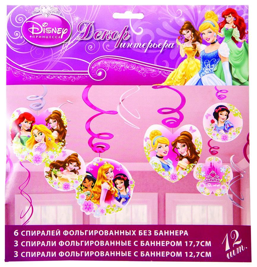 Amscan Спираль Disney Принцессы 12 шт