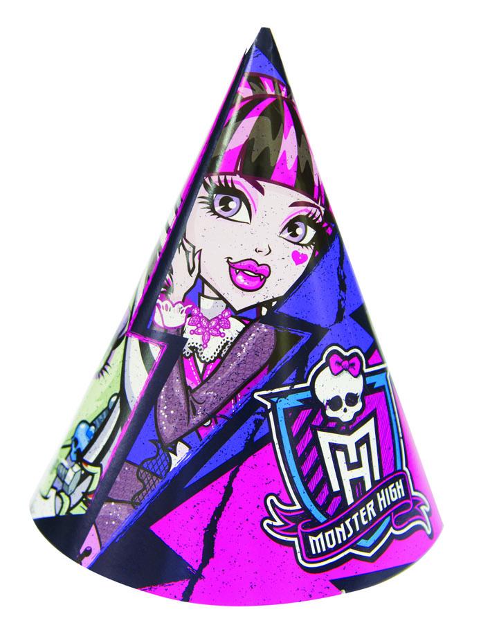 Веселая затея Колпак Monster High 8 шт веселая затея стакан медвежонок девочка 8 шт
