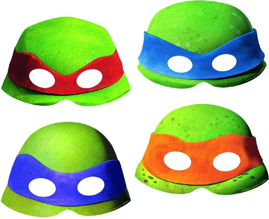 Amscan Маска карнавальная Черепашки Ниндзя 8 шт карнавальная маски