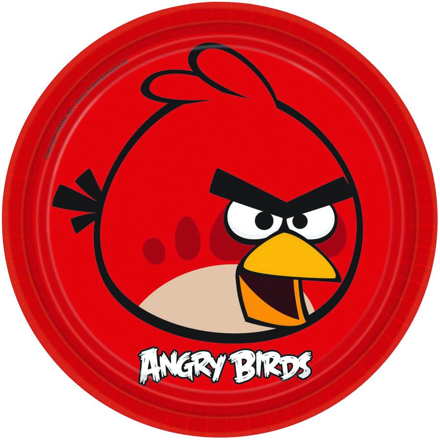 Amscan Тарелка Angry Birds цвет красный 8 шт