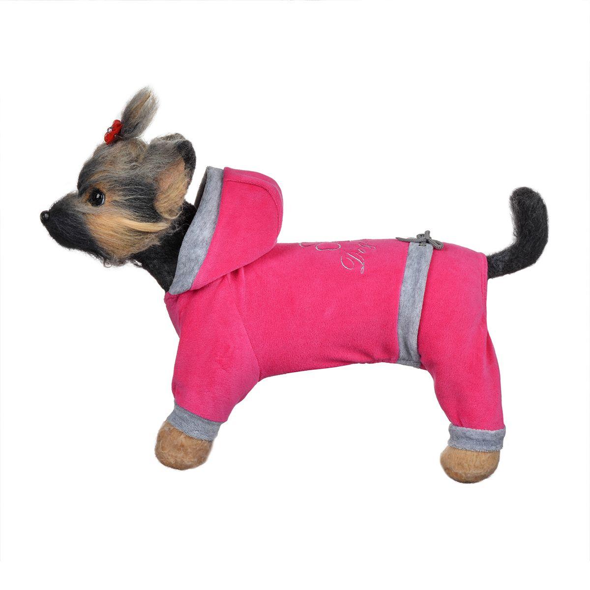 """Комбинезон для собак Dogmoda """"Хоум"""", унисекс, цвет: розовый, серый. Размер 4 (XL)"""