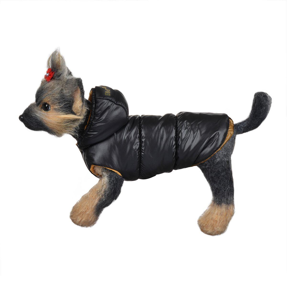 """Куртка для собак """"Dogmoda"""", зимняя, унисекс, цвет: черный, медный. Размер 2 (M)"""